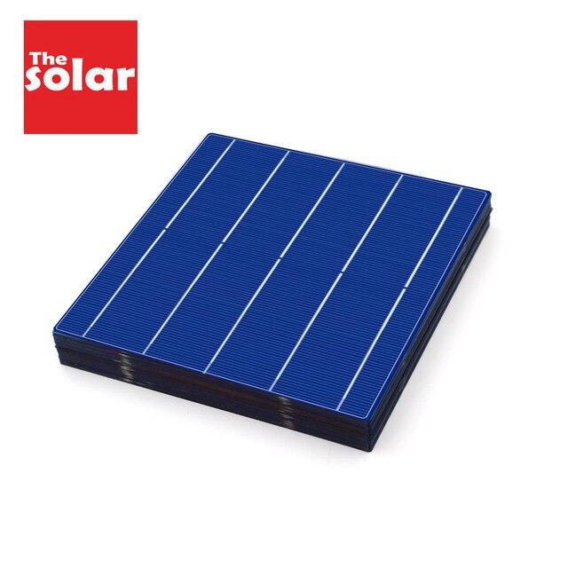 Polikristal silikon GÜNEŞ PANELI 10/50/80/100 adet 156*156mm güneş pili 6x6 sınıf bir PV DIY fotovoltaik Sunpower C60 4.79W 0.5V