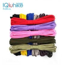 Iqiuhike 550 paracord pára-quedas cabo cordão tenda corda guyline mil especificação tipo iii 7 strand 100ft para caminhadas acampamento 208 cores