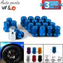 Universal 35mm Tyre Fastening Nut Aluminum Alloy Anti-Theft Hub Nut Racing Professional Tire Nuts