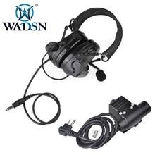 Tactical Headset Cable-Plug U94 Ptt Kenwood WADSN Comtac-Ii/c2 Noise-Reduction 2-Pin-Radio