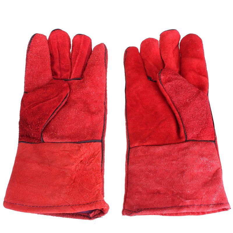 1 Pair WELDERS Welding Glove Arc Tig Mig Welding Leather Work Gloves 33cm