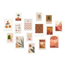 15 ورقة Ins نمط الديكور بطاقات الرسم البياني غرفة نوم الجدار ملصق الإبداعية القرطاسية صور الدعائم DIY بها بنفسك ملصق مزخرفة هدية