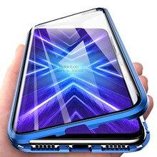 Magnético funda para Huawei Honor 9X STK LX1 doble Lado de vidrio templado de la cubierta del teléfono en el Honor 9 X mundial honor9x Premium coque funda