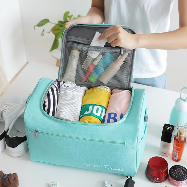 Dry And Wet Separation Travel Bag Weekend Overnight Suitcase Pouch Women's Waterproof Packing Cubes Garment  Luggage Accessories