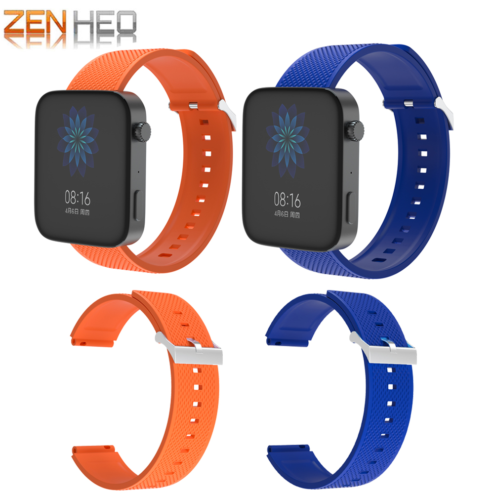 18MM Sports Silicone Wrist Strap bands For Xiaomi Mi Smart Watch GPS Replacement Band For Huawei Honor S1 Smartwatch Watchbands