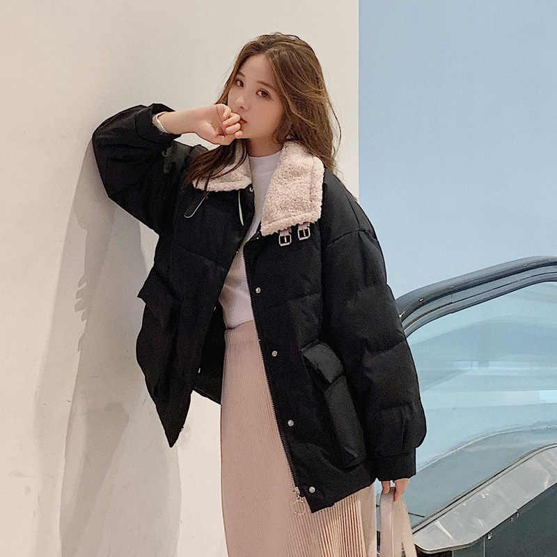Abrigos Mujer Invierno 2019 короткая зимняя куртка женская меховая хлопковая стеганая куртка Женская парка Женская куртка зимнее пальто для женщин