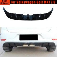 Zwart Pp Auto Achterbumper Diffuser Spoiler Voor Volkswagen Vw Golf 7 Vii 7.5 Standaard En Gti 2017 2018 2019 mid Outlet