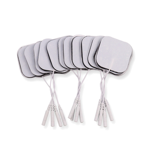 Image 1 - 100Pcs/lot 5*5cm 2mm Plug Reusable Self Adhesive Tens Electrode Pads For Nerve Muscle Stimulator Digital Physiotherapy Massager