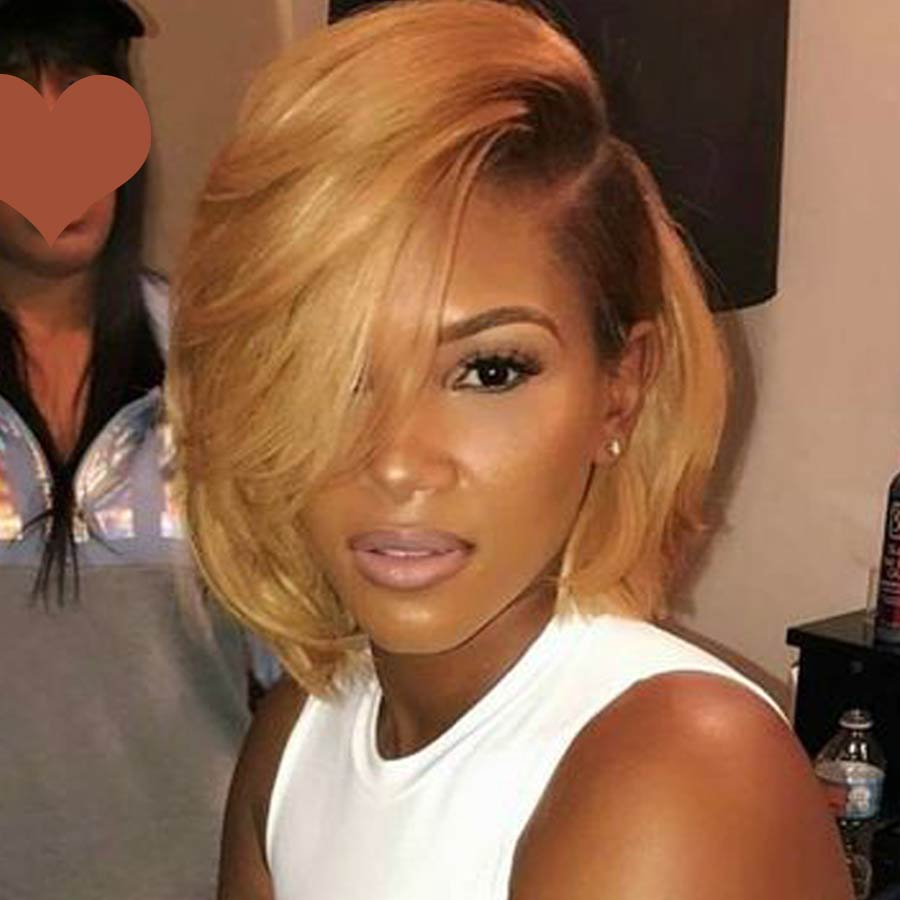 Rebecca Short Straight Bob Cut Lace Part Wigs Lace Front Human Hair Wigs For Black Women Brazilian Human Hair Wig Wig Blond Red