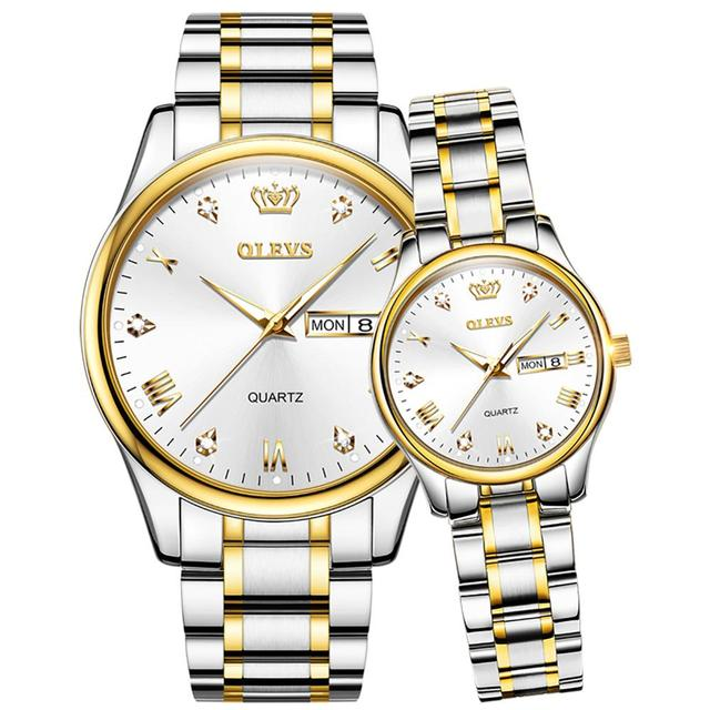 Couple Watches 2020 New Fashion Lover's Watches Simple Couple Watch Gifts Men Women Clock Stainless steel Pair watch