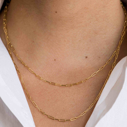 Collier avec chaîne ouverte en argent Sterling 925, 16 pouces, 18 pouces, 2 couleurs, or argent