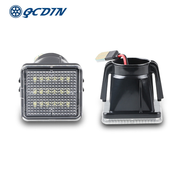 QCDIN For TOYOTA LED License Plate Lamp White 12V 6000K For TOYOTA Tacoma 2016 2019 Tundra 2014 2019 Number Lights Signal Lights