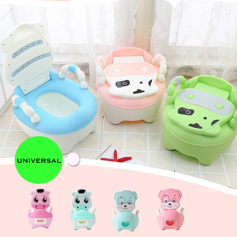 New Baby Potty Training Seat Children's Potty Baby Toilet Cartoon Panda Kids Toilet Trainer Bedpan Portable Urinal Backrest Pot
