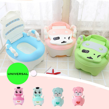New Baby Potty Training Seat Children's Potty Baby Toilet Cartoon Panda Kids Toilet Trainer Bedpan Portable Urinal Backrest Pot cartoon baby boy girls folding toddler potty toilet trainer saf
