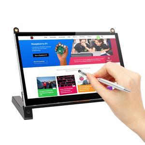 Портативный монитор Raspberry Pi сенсорный экран 7-дюймовый 1024X600 с двумя динамиками портативный емкостный IPS дисплей с HDMI