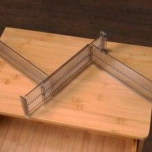 2pcs/set Drawer Cabinet Storage Partition Divider Adjustable DIY Organizers