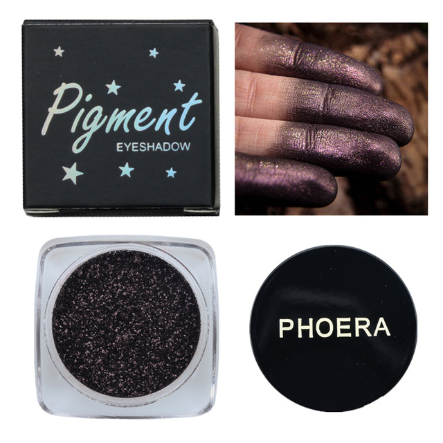 Phoera 12 Color Glitter Eyeshadow Long Lasting Eye Shiny Shadows Matte Makeup Palette Waterproof Easy To Color Pigment Eyeshadow 1