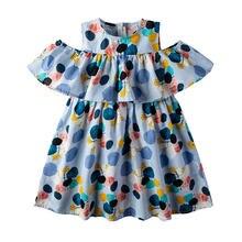 Летние платья для девочек детское платье с принтом в горошек