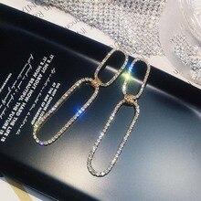 New Fashion Women Dangle Earrings Long Pendant Jewelry Hyperbolic Geometry  Hollow Out Metal Punk Eardrop
