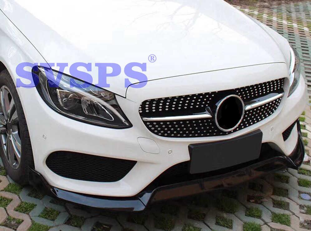 Tuning Front Pp Bumper Lip Body Kit For Brabus Style Mercedes C Class Benz W205 C200 C180 C200 C300 4 Doors 2 Doors Sport Parts