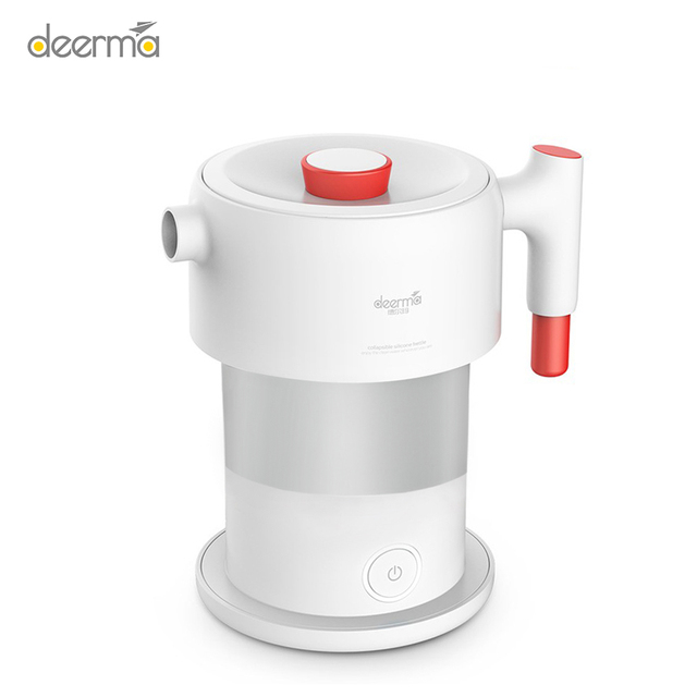 New Deerma 0.6L Handheld Portable Electric Water Kettle Folding Electric Water Flask Pot Auto Power Off Protection Kettle