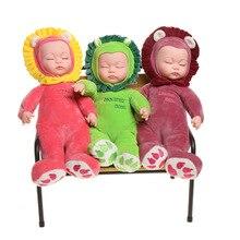 Simulation Plüsch Tier Puppe Spielzeug Kinder Schlaf Beruhigende Schlaf Puppe Cradle Puppe kinder spielzeug überraschung puppen reborn kit spielzeug