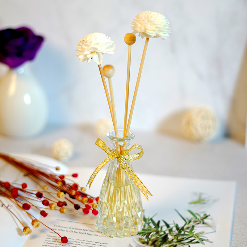 5pcs/set Flower Rattan Reeds Fragrance Diffuser Non-fire Replacement Refill Sticks Aromatic Incense Supply