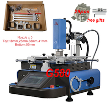 Customised G580 Semi automatic 3 Zones hot air BGA Rework Station 5 Nozzle bottom 4800W Touch screen Temperature control