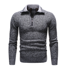 NEGIZBER 2019 חדש סתיו חורף Mens סוודר מוצק Slim Fit סוודרי גברים סוודרים מקרית עבה צמר סוודר גולף גברים