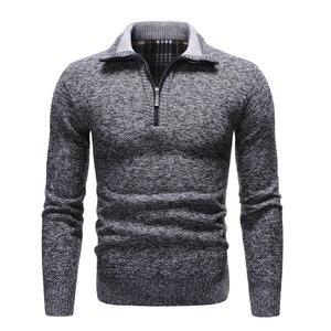 Image 1 - NEGIZBER 2019 새로운 가을 겨울 남성 스웨터 솔리드 슬림 피트 풀오버 남성 스웨터 캐주얼 두꺼운 양털 터틀넥 스웨터 남성