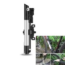 Bicycle Pump Hand Air Pump Hose Pressure Gauge Cycling Tire Inflator Schrader Presta Valve Fork Portable Mini Pump