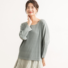 Fold Womens clothing Sense of design 2019 New pattern Round collar  Long sleeves Knitting Pullover