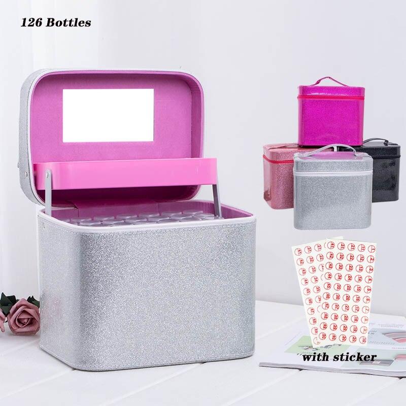 Nouveau 126 bouteilles diamant peinture point de croix accessoires boîte à outils conteneur diamant sac de rangement boîtier broderie mosaïque