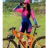 Xama ciclismo verão manga longa das mulheres ciclismo macacão bicicleta wear roupa ciclismo go pro bicicleta sportwear triathlon skinsuit 10