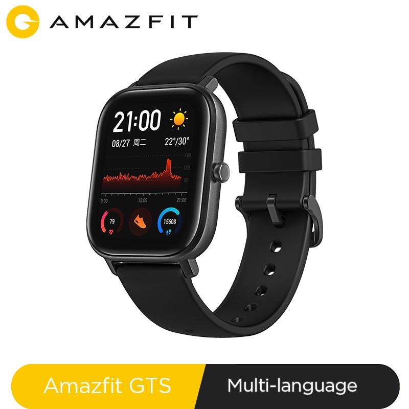 Global Versão NOVA Amazônia GTS Relógio Inteligente 5ATM Smartwatch À Prova D' Água de Natação 14 Dias Bateria Controle de Música para Xiaomi Telefone IOS