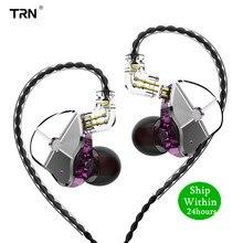 TRN ST1 1DD + 1BA hybrydowy w uchu słuchawka hi fi DJ Monitor sportowe słuchawki do biegania słuchawki douszne odłączany kabel ZST ES4 V80 V90