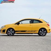 Autocollants de course des deux côtés, pour Seat Ibiza FR TGI ST TSI, Cupra, Stickers décoratifs pour la porte de voiture, styliste sportive