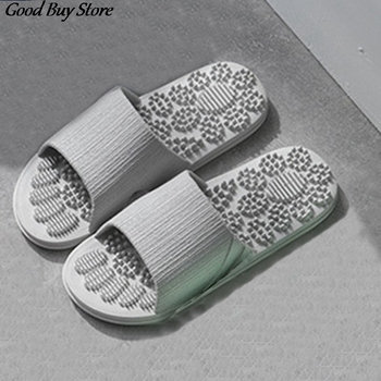 Indoor Massage Slippers Men's Flat Home Slipper Summer Bath Comfortable Floor Shoes Non-slip Male Bathroom Shower Zapatillas fayuekey 2018 new spring summer fashion genuine leather home couples slippers indoor floor outdoor slippers non slip flat shoes