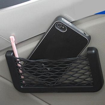 1Pcs Universal Car Mesh Net Bag Seat Back Storage Organizer Net Holder Pocket For wallet\Phone\keys\pens and more Car Accesories image