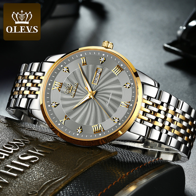 OLEVS Men Mechanical Watch Top Brand Luxury Automatic Watch Sport Stainless Steel Waterproof Watch Men relogio masculino 6530 4