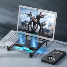 Przenośna podstawa do laptopa podstawa do notebooka uchwyt do komputera Macbook Tablet stojak na laptopa stojak na wentylator chłodzący tanie tanio Colohas CN (pochodzenie) White Black For Macbook air pro 11 12 13 15 retina For xiaomi Lenovo HP Dell Asus Acer Laptop