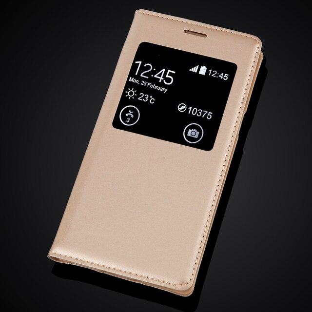 Pour Samsung Galaxy S5 SV Mini S5mini G800 fenêtre ouverte en cuir rabat couverture arrière protéger étui