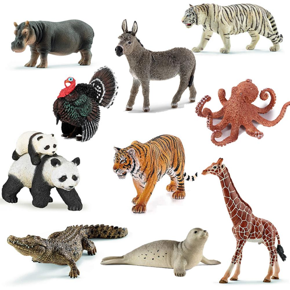 MagiDeal Plastic Wild Farm Zoo Animal Model Figure Statue Toy for Kids Gift