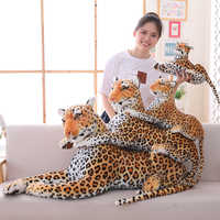 30-120cm Big Leopard Panther Plush Toys Giant White Tiger Black Panther Soft Stuffed Animal Pillow Animal Doll Toys For Children