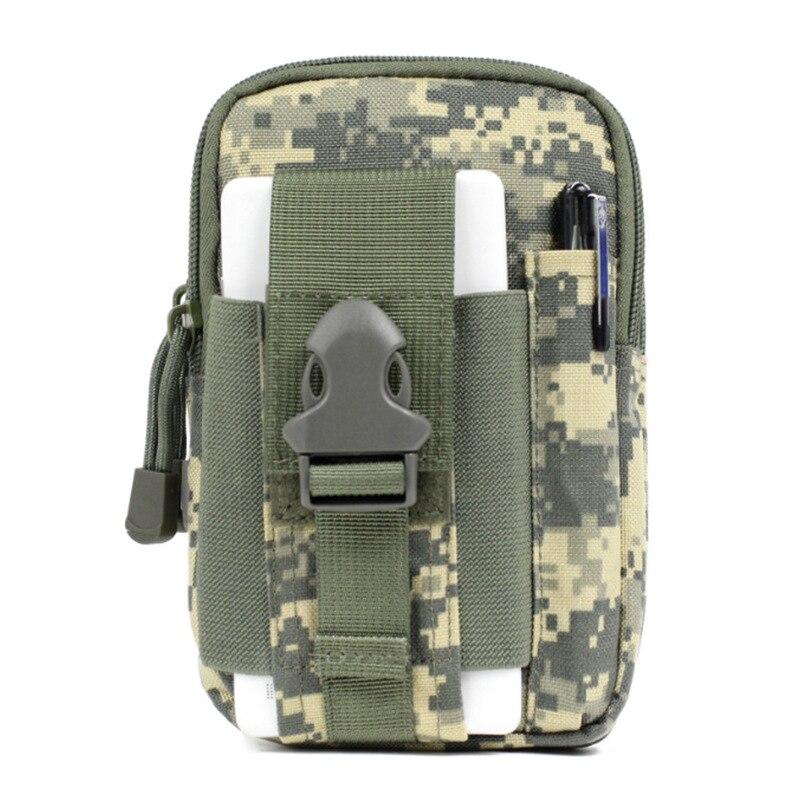 Cartera de camuflaje táctico impermeable deportes multifuncional bolsa táctica cintura paquete al aire libre correr teléfono móvil deportes cintura P - 3