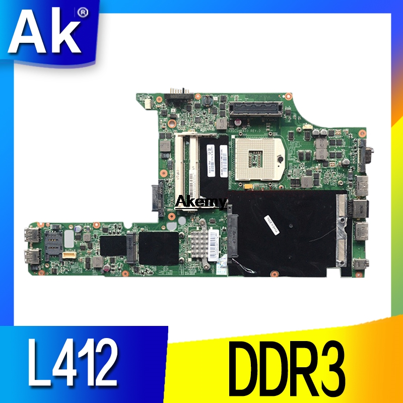 AKEMY 75Y4002 For Lenovo L412 Laptop Motherboard DA0GC9MB8D0 DDR3 Fully Tested Work Perfect