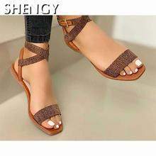 Cross Strap Sandals Ladies 2020 Open Toe Elegant Sweet Fashi