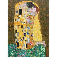 Portrait of Woman artwork lovers painting The kiss gustav klimt oil paintings gold leaf handmade canvas art for room wall decor
