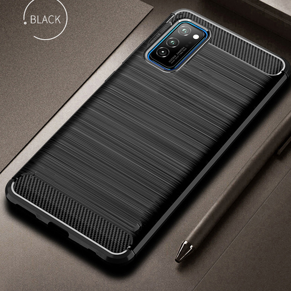 For Honor View 30 Pro Case Carbon Fiber Cover Shockproof Phone Case For Huawei Honor View30 V 30 Cover Durable Bumper Flex Shell