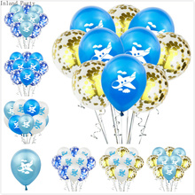 10pcs/lot 12inch Cartoon plane Latex Balloons Colored Confetti Birthday Party Decorations Mix Rose Wedding Decoration ballons